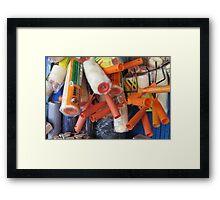 Painter Supplies ~ pillow collection Framed Print