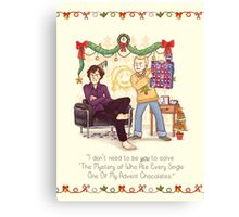 The Mystery of the Advent Chocolates Canvas Print