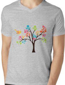 Colourful Tree Mens V-Neck T-Shirt