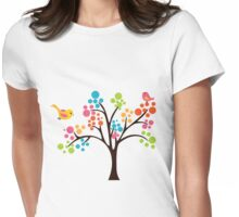 Colourful Tree Womens Fitted T-Shirt