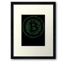 Bitcoin Matrix. Framed Print