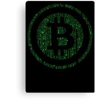 Bitcoin Matrix. Canvas Print