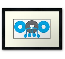 cute music CD with mucical notes Framed Print