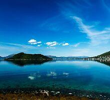Blue fjord by Frank Olsen
