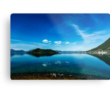 Blue fjord Metal Print