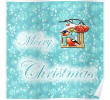 merry christmas robin design Poster