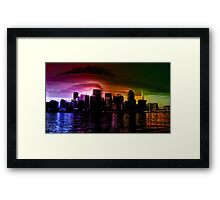 Glitchy City [Multicolor Version] Framed Print