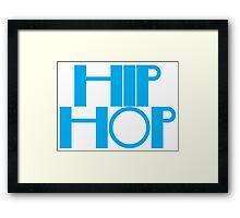 HIP HOP in blue Framed Print