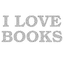 I Love Books Typography Photographic Print