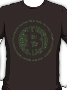 Bitcoin Matrix. T-Shirt