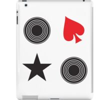 records and spades stickers iPad Case/Skin