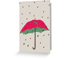 Watermelon Umbrella Greeting Card