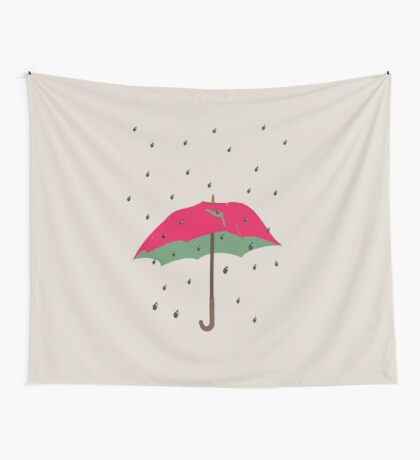 Watermelon Umbrella Wall Tapestry
