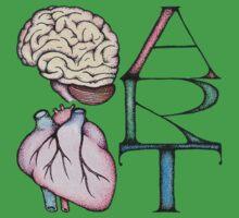 Brain Heart Art by Immy