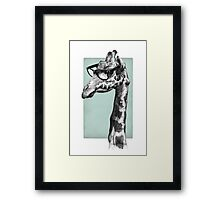 Short-Sighted Giraffe Framed Print