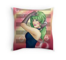 Glam Rock Pinup - Pizzaz Throw Pillow