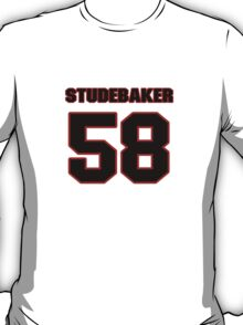 NFL Player Andy Studebaker fiftyeight 58 T-Shirt