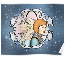 Sisters - Anna and Elsa Poster