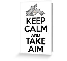 Dreamcast Keep Calm and Take Aim Greeting Card