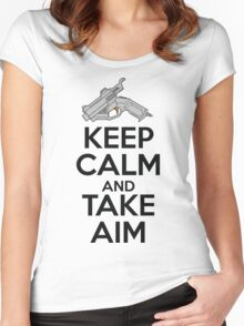 Dreamcast Keep Calm and Take Aim Women's Fitted Scoop T-Shirt