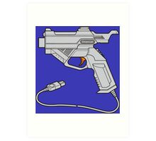 Dreamcast Light Gun (On Blue) Art Print