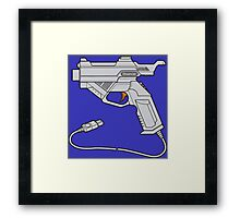 Dreamcast Light Gun (On Blue) Framed Print