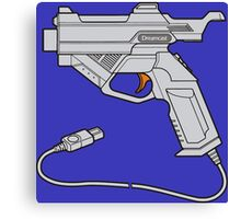 Dreamcast Light Gun (On Blue) Canvas Print