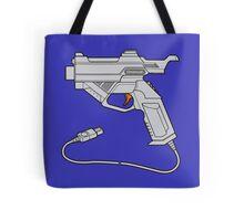 Dreamcast Light Gun (On Blue) Tote Bag