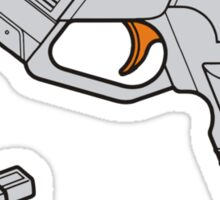 Dreamcast Light Gun (On Blue) Sticker