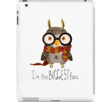 Small owlet - Biggest HP fan iPad Case/Skin