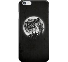 Zombie Walk - White iPhone Case/Skin