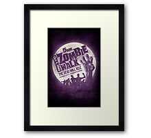 Zombie Walk - White Framed Print