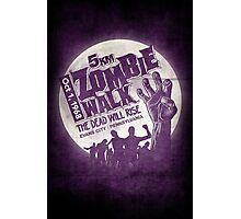 Zombie Walk - White Photographic Print