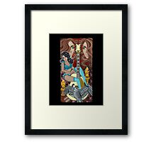 Guitar Lady Framed Print