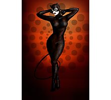 Catwoman Pinup Photographic Print