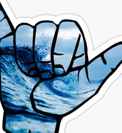 Shaka Waves ASL stickers Sticker