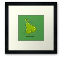 Nature can't deny! Framed Print