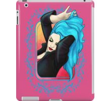 Vibrant Blue Pinup GIrl iPad Case/Skin