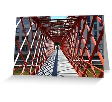 red Bridge perspective Greeting Card