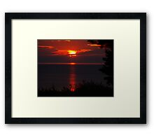 Good Morning from Lake Huron Framed Print