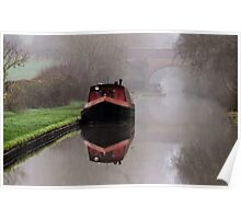 Mystical Barge on the Canal Poster