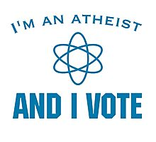 Voting Atheist Photographic Print