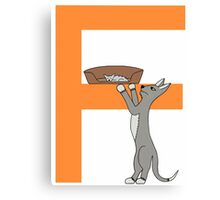 Cat Alphabet Letter F Canvas Print