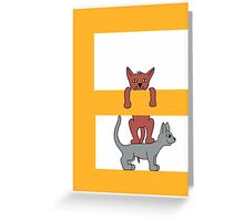 Cat Alphabet Letter E Greeting Card