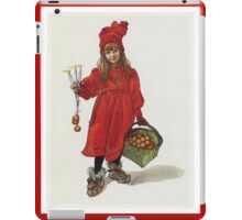 Peace, Love and Hope at Christmas Greeting Card iPad Case/Skin