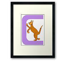 Cat Alphabet Letter C Framed Print