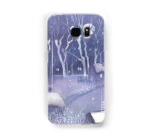Winter village at night Samsung Galaxy Case/Skin