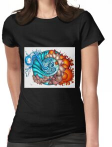 earth, wind, water and fire Womens Fitted T-Shirt