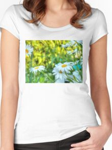 Daisy in the Garden 2 Women's Fitted Scoop T-Shirt