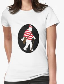 Where's Sasquatch Womens Fitted T-Shirt